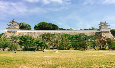 明石城の櫓と石垣