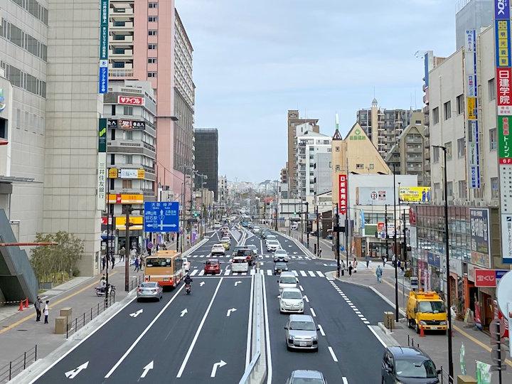 国道2号線・明石駅前交差点の改良・拡張工事が2021年3月で完了しました
