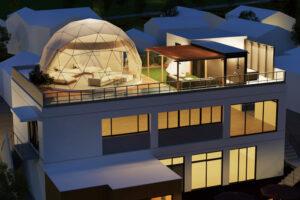 ドーム型の「淡路島グランピングビーチヴィラSAZANAMI(漣)」が8月岩屋にオープン