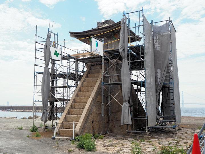 旧波門崎燈籠堂(明石港旧灯台)