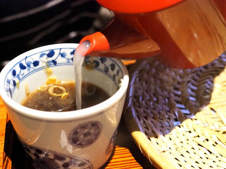白濁系の蕎麦湯