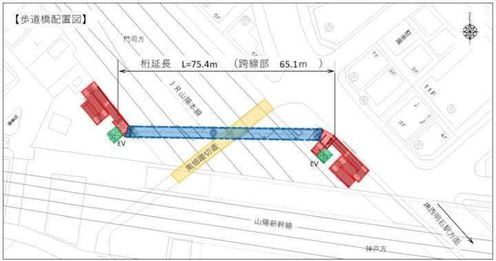 歩道橋配置図