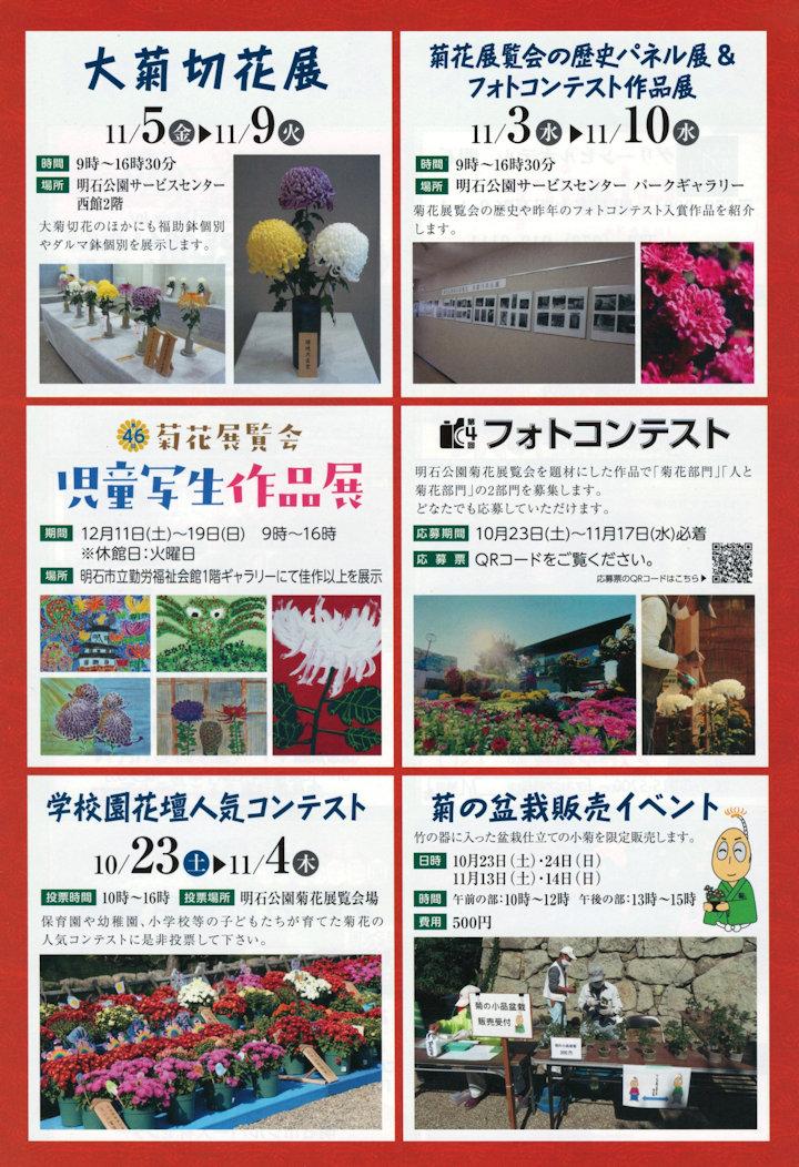 第93回 明石公園菊花展覧会イベント