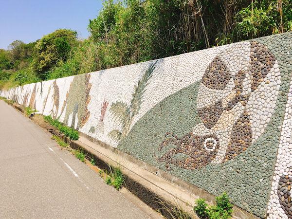 松江海岸の壁画