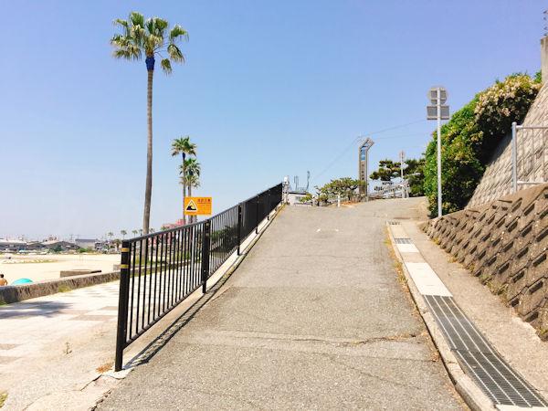 浜の散歩道ゴール
