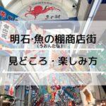 地元民が案内します!明石魚の棚商店街(うおんたな)の楽しみ方・グルメ・食べ歩き