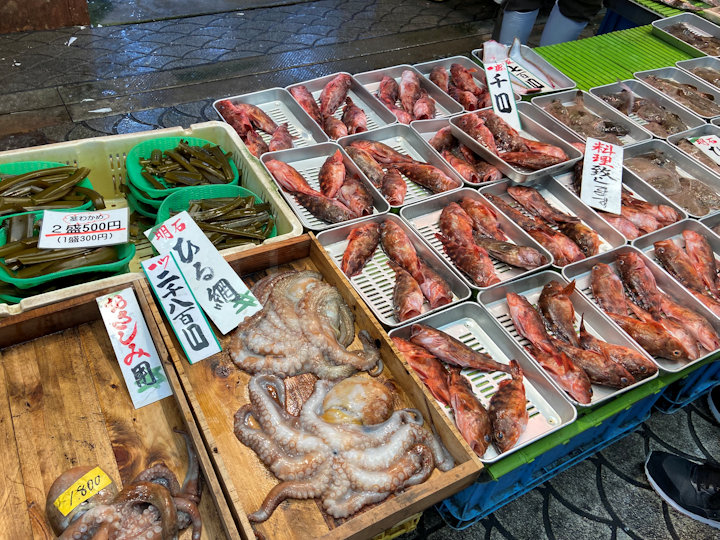 魚の棚の昼網