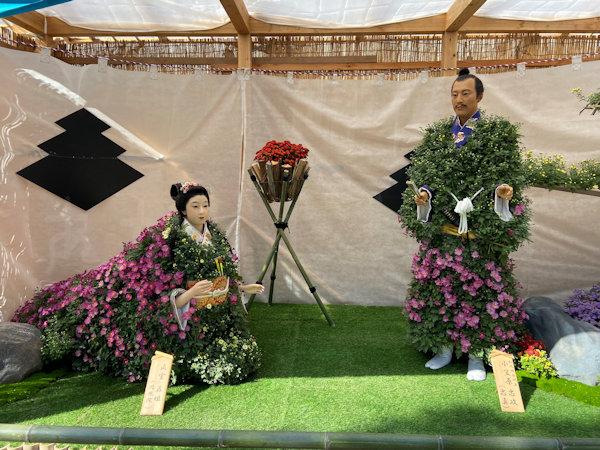 小笠原忠政と五姫の菊人形