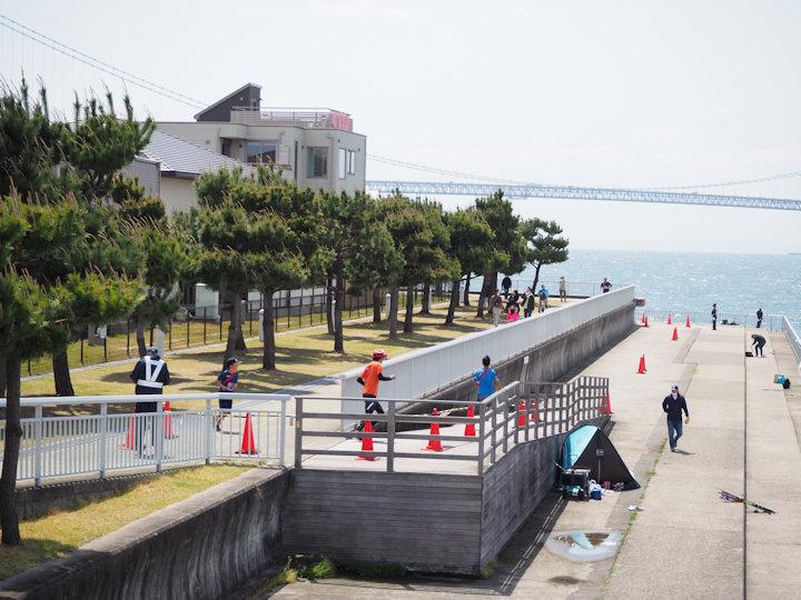 明石大蔵海岸 リレーマラソンのコース