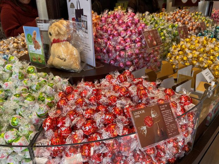 大粒チョコ「リンドール」の山