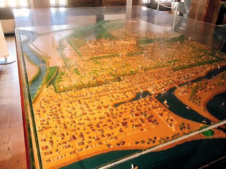 明石城復元模型