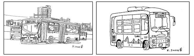 山陽バスの塗り絵