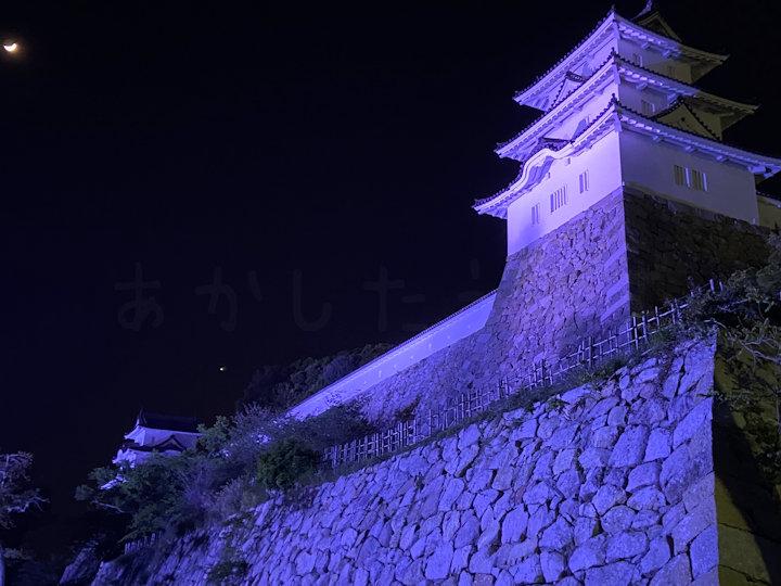 巽櫓のライトアップ