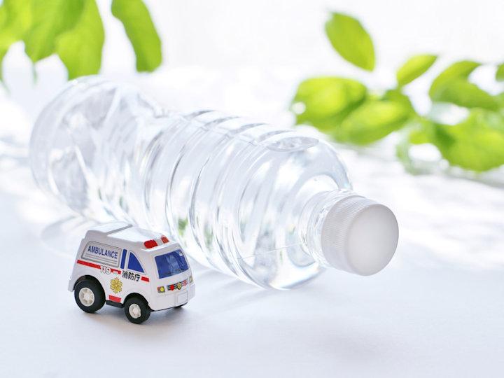 熱中症対策に水分補給