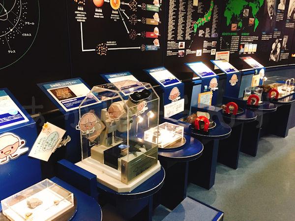 隕石の展示