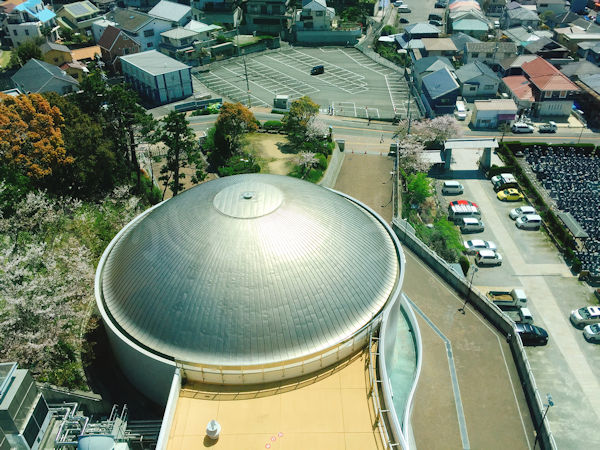 プラネタリウムドームの天井