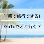 半額で旅行できる「Go To トラベル キャンペーン」スタート!明石市内の旅行会社は?