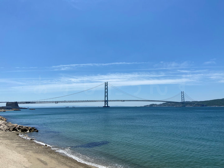明石海峡大橋が目の前