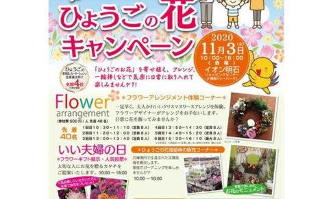 イオン明石で「ひょうごの花キャンペーン」