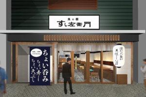 魚の棚商店街に新しいお鮨の店「すし左衛門」が12月上旬オープン予定