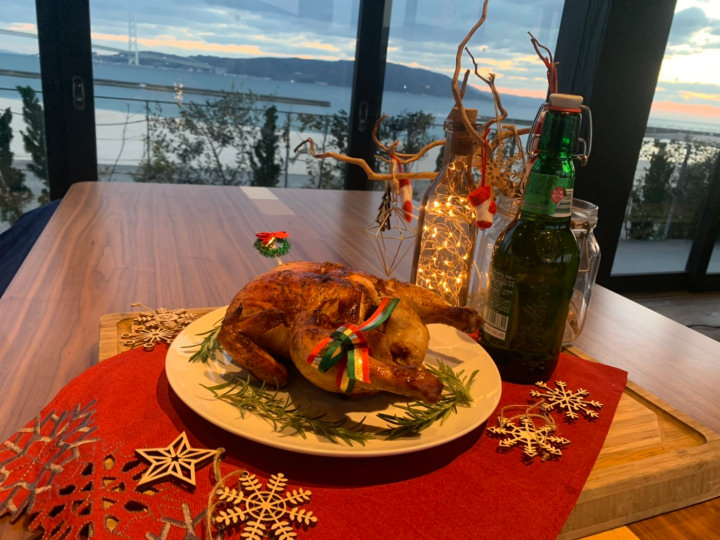 大蔵海岸BBQ「ZAZAZA」でビア缶チキンがクリスマス限定で販売